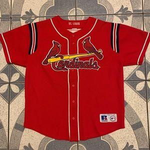 Vintage Stan Musial St Louis Cardinals Jersey Sz L